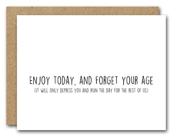 Funny Birthday Card INSTANT DOWNLOAD Friend Coworker Mom Dad Best