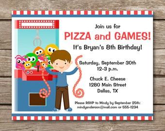 Arcade Party Invite Etsy