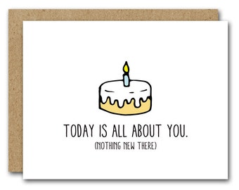 PRINTABLE Printable Birthday Card INSTANT DOWNLOAD Happy Friend Funny