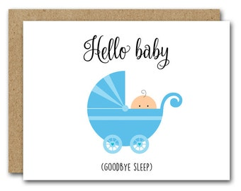 printable new baby card congratulations baby card baby shower card new mom card baby boy shower baby stroller instant download