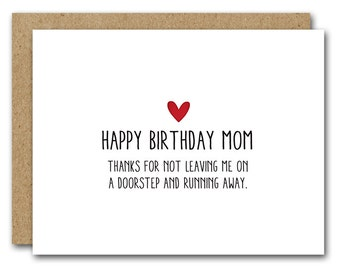 PRINTABLE Mom Birthday Card Funny INSTANT DOWNLOAD Happy