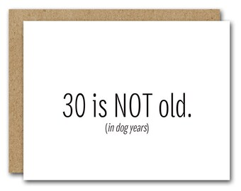 PRINTABLE 30th Birthday Card INSTANT DOWNLOAD Funny Happy Friend Thirtieth