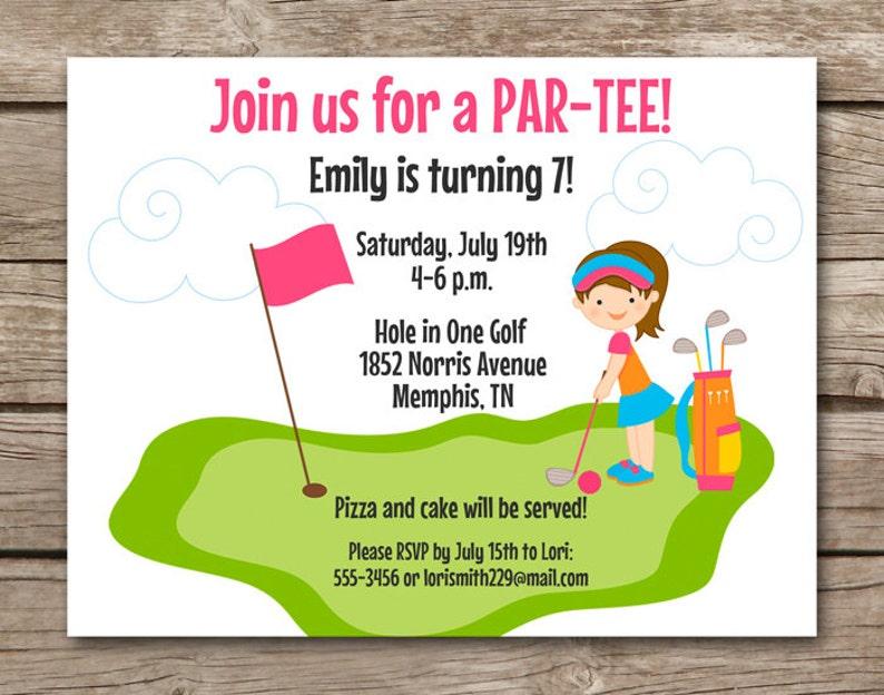 Mini Golf Invitation Miniature