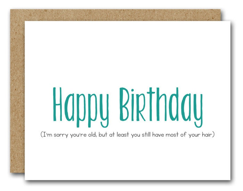PRINTABLE Funny Birthday Card Happy