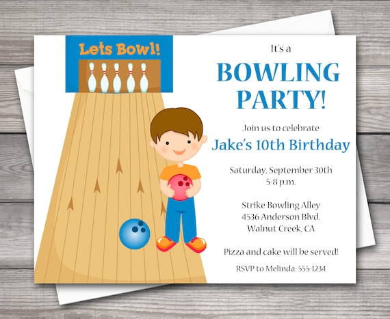 photo relating to Printable Bowling Party Invitations titled PRINTABLE Bowling Invitation, Bowling Get together Invitation, Bowling Birthday Invitation, Boys Bowling Celebration, Arcade Invitation, Arcade Celebration