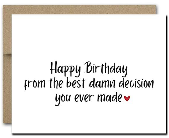Printable Funny Birthday Card For Husband Funny Husband Etsy
