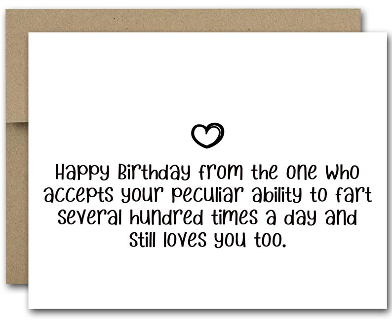 image relating to Printable Funny Birthday Card titled PRINTABLE Amusing Birthday Card, Humorous Birthday Card For Partner, Boyfriend Birthday Card, Farting Card, Amusing Fart Card, Humorous Anniversary
