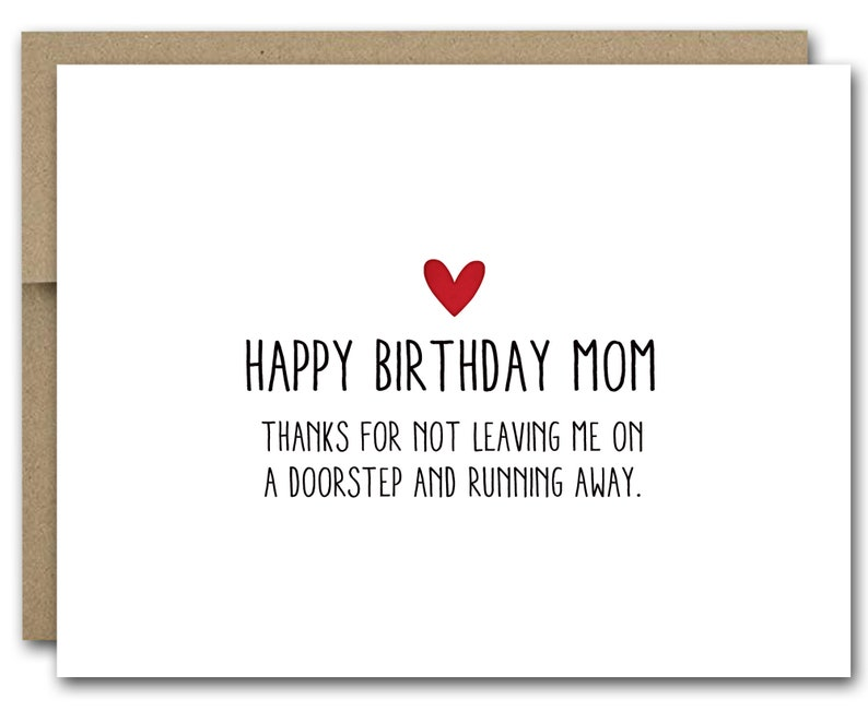 Cool Printable Funny Mom Birthday Card Funny Mom Card Happy Etsy Personalised Birthday Cards Veneteletsinfo