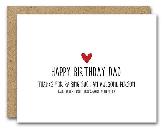 Dad Birthday Card Funny Dad Card Instant Download Happy Etsy