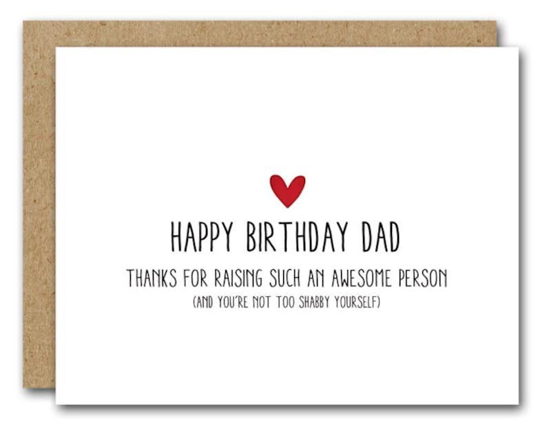 Dad Birthday Card Funny INSTANT DOWNLOAD Happy