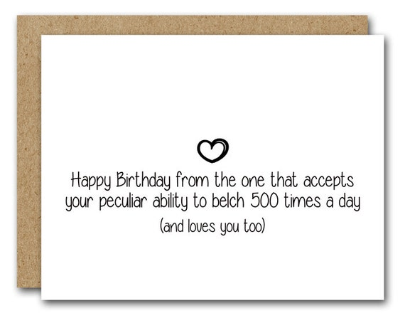 Printable Funny Birthday Card Instant Download Husband Etsy