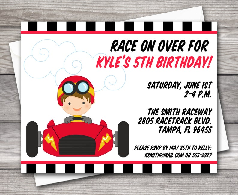 image relating to Printable Race Track referred to as PRINTABLE Race Car or truck Birthday Invitation, Race Auto Invitation, Race Vehicle Social gathering Invitation, Racetrack Invitation, Race Observe Invitation