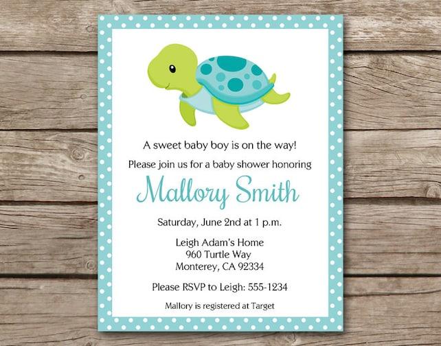 Sea turtle baby shower invitation sea turtle invitation etsy image 0 filmwisefo