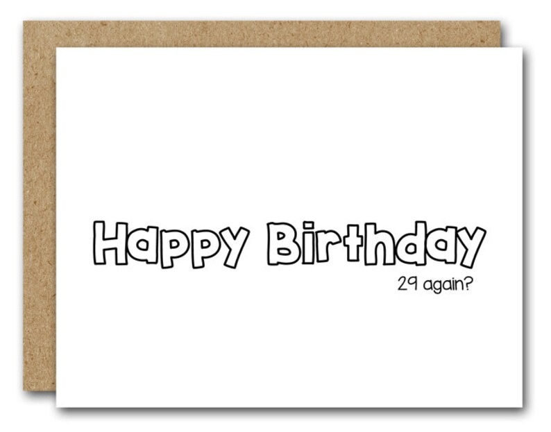 29th Birthday Card Printable INSTANT