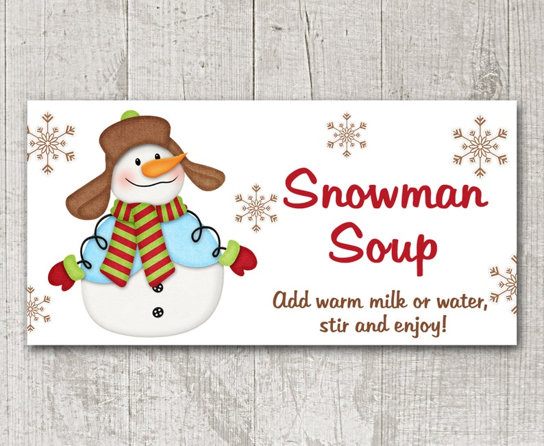 image regarding Snowman Soup Printable Tag named PRINTABLE Snowman Soup Deal with Bag Topper, Snowman Soup Tag, Snowman Soup Sticker, Xmas Tag, Vacation Handle Bag, Quick Down load