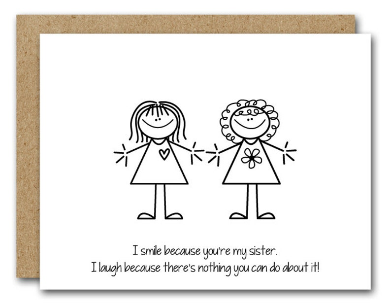 PRINTABLE Sister Birthday Card Funny Friend