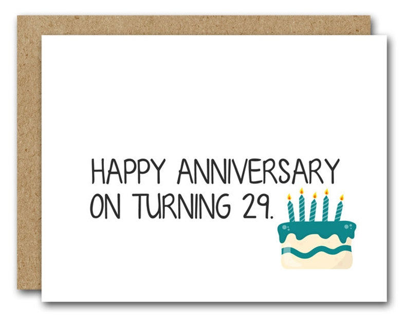 29th Birthday Card INSTANT DOWNLOAD Funny