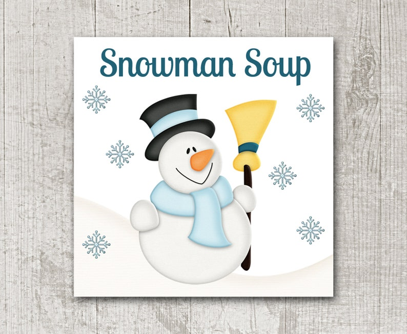 image regarding Snowman Soup Printable Tag called PRINTABLE Snowman Soup Tag, Prompt Obtain, Snowman Soup Reward Tag, Snowman Soup Label, SNowman Soup Sticker, Snowman Tag, Snowman Sticker