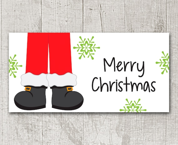 image regarding Santa Claus Printable named PRINTABLE Xmas Handle Bag Topper - Santa - Santa Claus - Printable