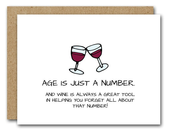 Funny Birthday Card Wine Lover INSTANT DOWNLOAD Friend