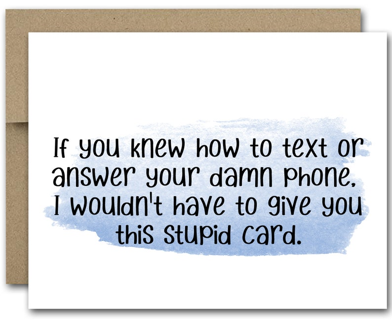 photo relating to Printable Funny Birthday Card called PRINTABLE Humorous Birthday Card, Amusing words and phrases Card, Humorous Mate Card, Mobile phone Card, Easiest Close friend Card, Amusing Birthday Card, Coworker Card