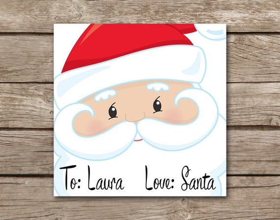 personalized christmas tags santa tags love santa tags etsy