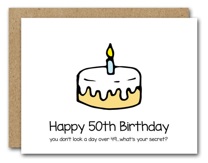 50th Birthday Card Funny INSTANT