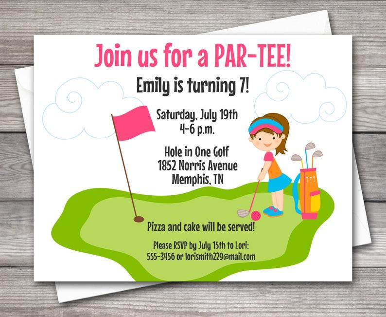PRINTABLE Mini Golf Invitation Miniature
