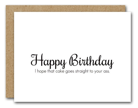 Funny Birthday Card Funny Card Instant Download Friend Etsy