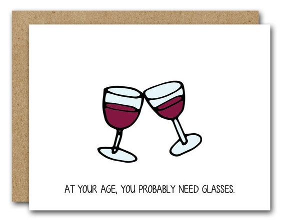 Printable Funny Birthday Card Wine Lover Card Instant Etsy