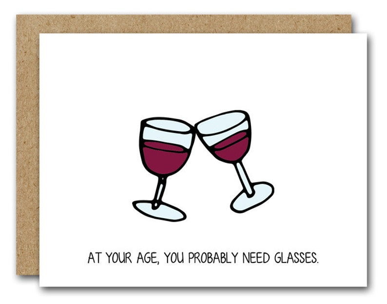 PRINTABLE Funny Birthday Card Wine Lover INSTANT