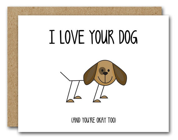 PRINTABLE Dog Card Funny I Love Your