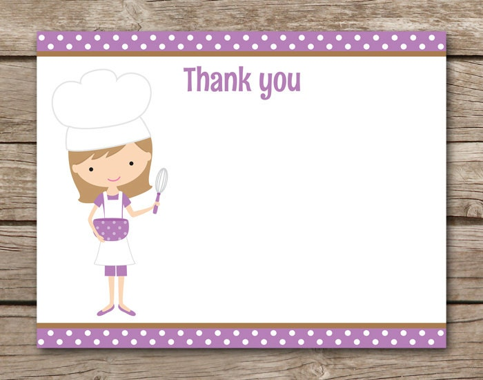 Thank You For Baking: Cooking Party Thank You Baking Party Thank You Chef Thank