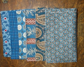 Fabric-2 yd piece Dark BlueGreenScienceBlack Beauties 1890-1900 reproductionrepo print #3183yd044Judy RocheCorienne KramerChanteclair