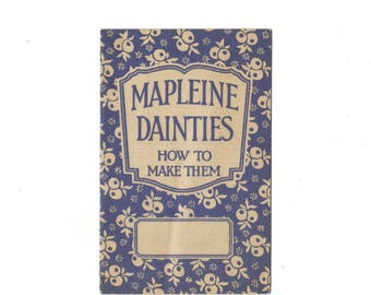 Crescent Mapleine Dainties How to Make Them Recipe Booklet Vintage 1920s