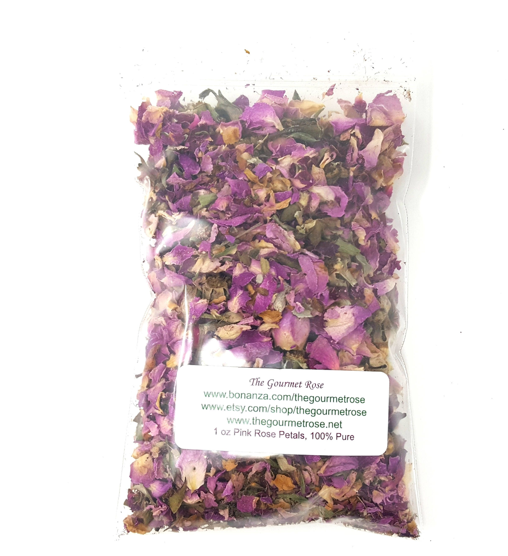 1 Oz Pink Rose Petal Tea Buds Dried Flowers Potpourri Bath Etsy