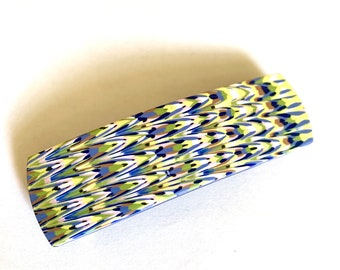 Fair Isle Pattern Polymer Clay Hair Barrette