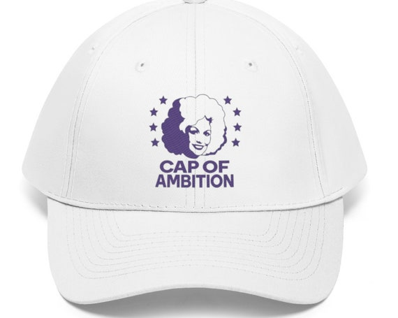 Cap of Ambition (purple) - One Size Fits All - Adult - Funny - Country - Dolly Parton - Unisex Twill Hat