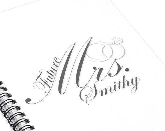 Custom Engagement Future Mrs Notebook