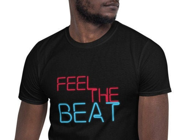 Feel The Beat - Short-Sleeve Unisex T-Shirt - Beat Saber Fan-inspired - VR - Virtual Reality - Gaming - Video Game