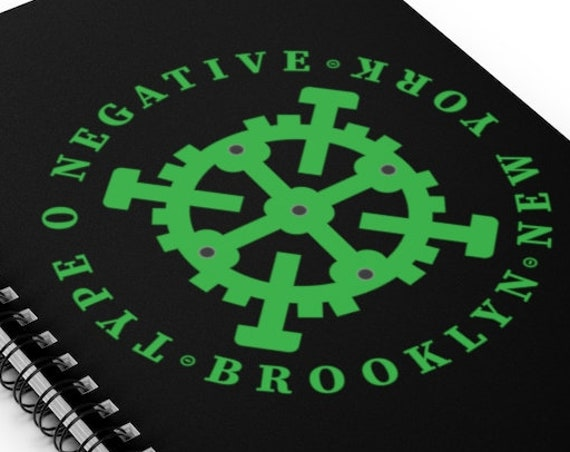 Requested: Brooklyn New York, Type O Negative - Spiral Notebook - Ruled Line - Hammer - Gear - Goth - Peter Steele - Journal - Music