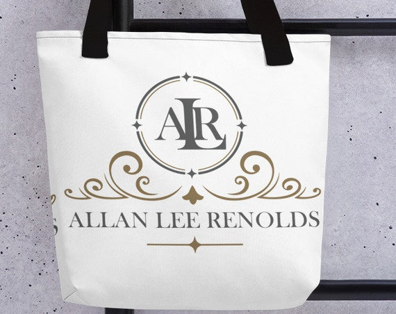 Personalized Vintage Tote (round) - Large Tote - Custom Bag - Custom Gifts - Monogram Bag - Initials - Name - Branding - Customized Gifts