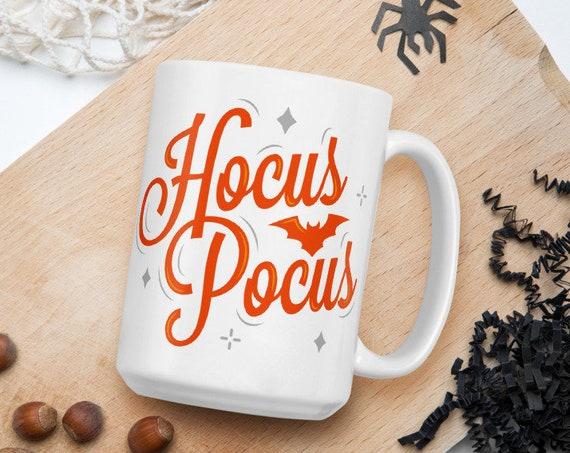 Hocus Pocus - Glossy Ceramic Coffee Mug - Halloween Mug - Witch Mug - Sanderson Sisters - Spooky