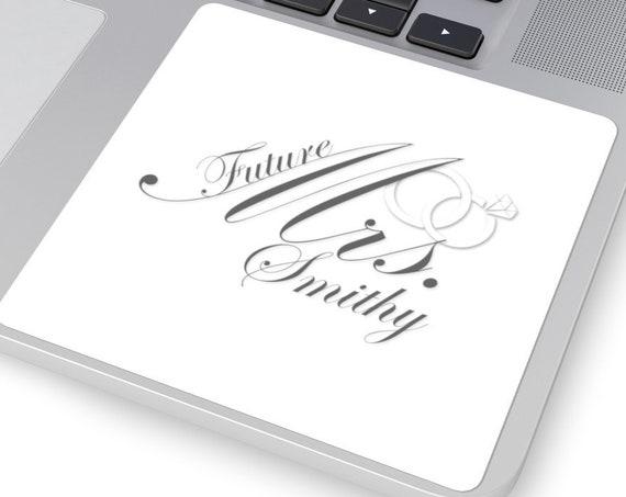 Custom Engagement Stickers Square | Future Mrs