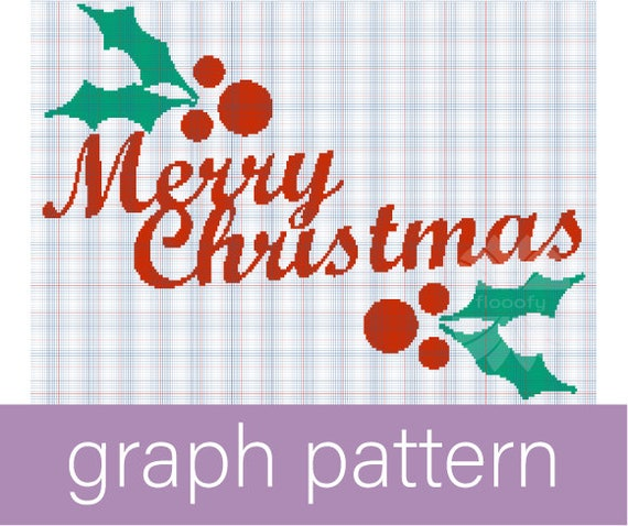 Merry Christmas Holly (Medium) Graph Pattern