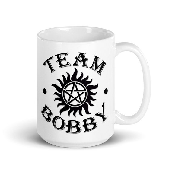 Team Bobby - Glossy Ceramic Mug - Coffee - Supernatural - Bobby Singer - Winchester - Anti Possession