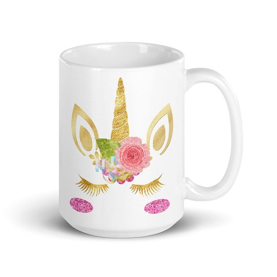 Glitter Unicorn - Glossy Ceramic Coffee Mug - Unicorn - Cute - Coffee Lover - Coffee Gifts - Sparkle