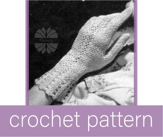 Vintage Fair Lady's Gloves Crochet Pattern