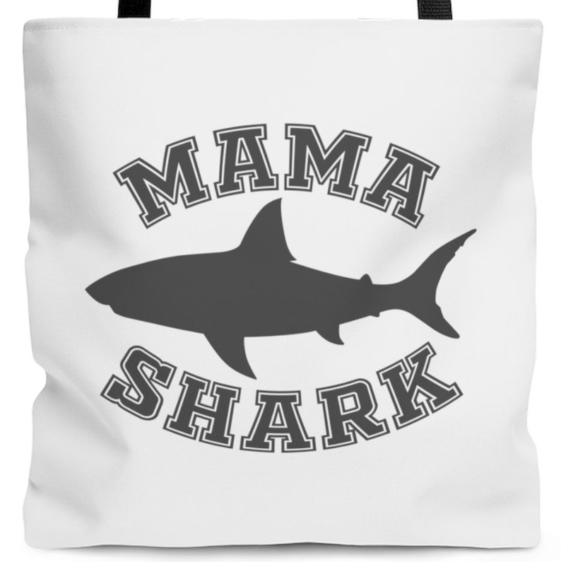 3 Sizes Mama Shark Tote Bag