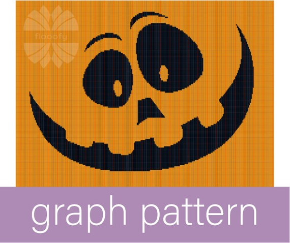 Happy Jack O'Lantern (Medium) Graph Pattern